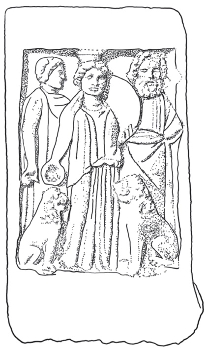 Cover of The triad from Ephesos: The Mother Goddess and her two companions, Susanne Berndt-Ersöz