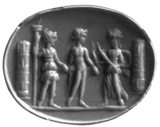 Cover of Hekate with Apollo and Artemis on a Gem from the Southern Black Sea Region, MANOLIS MANOLEDAKIS